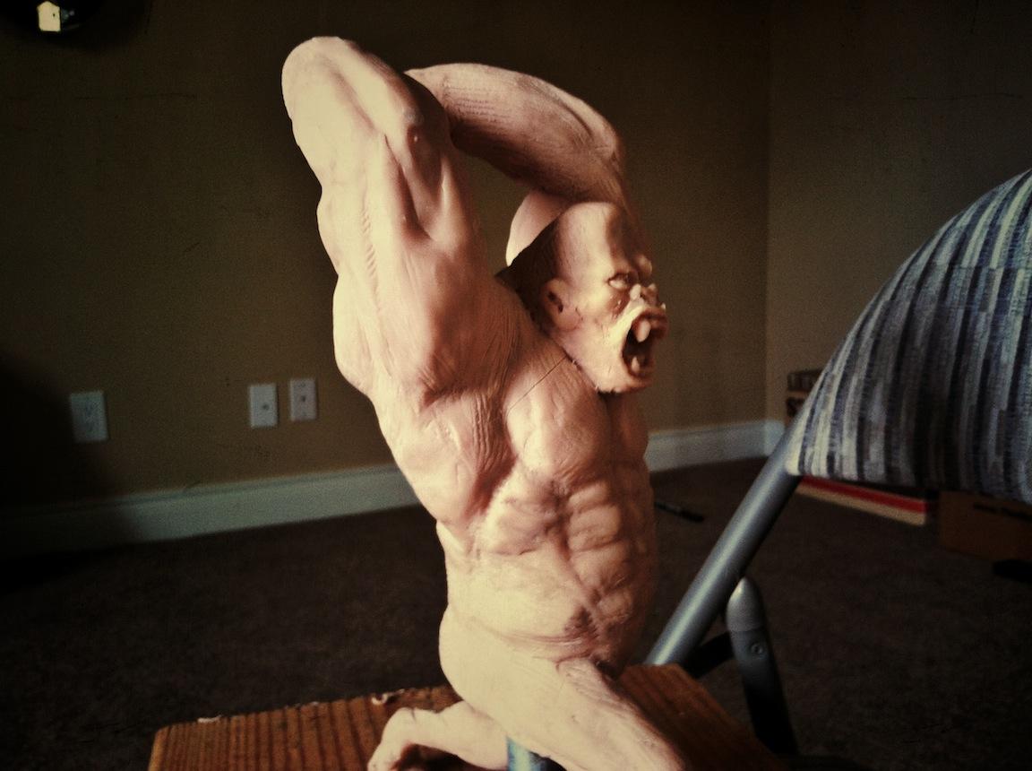 gorilla sculpture angle 2