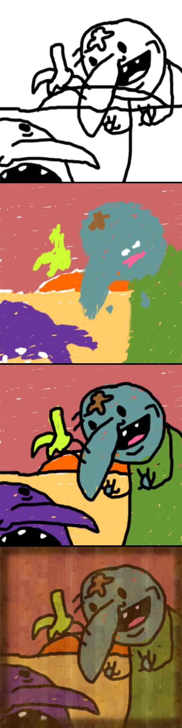 man vs. bird