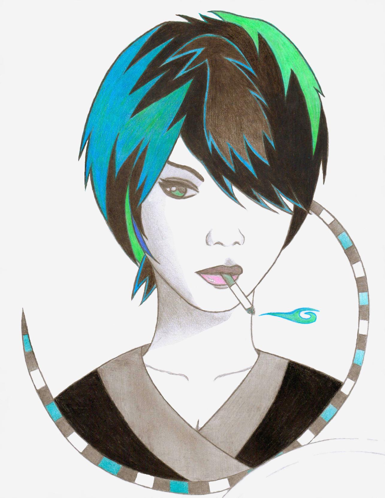 Cigarette Girl #2