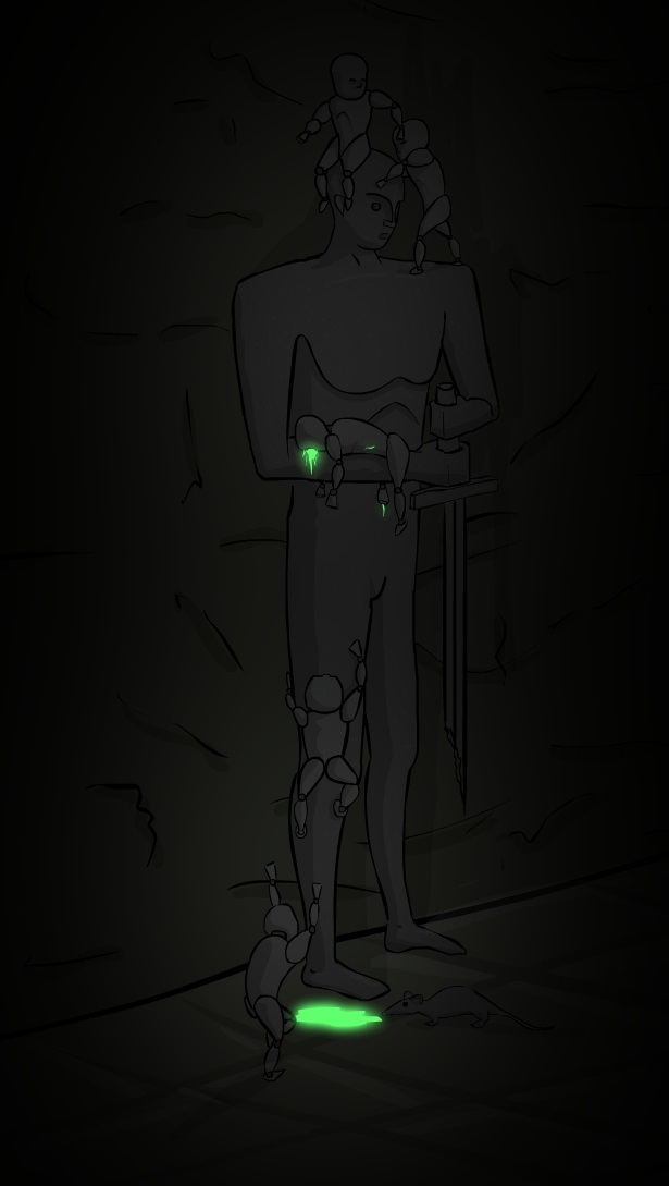 Cave golems v1 concept