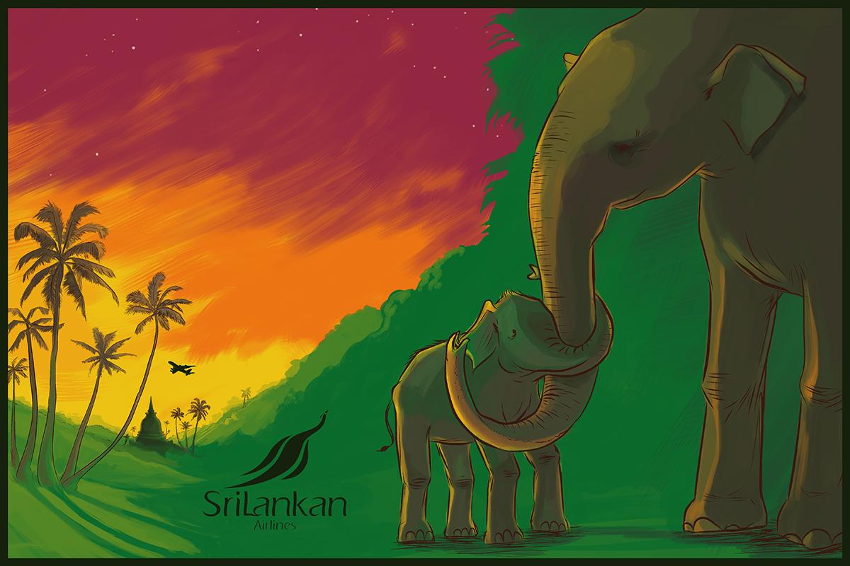 Sri Lankan Airlines Xmas Card