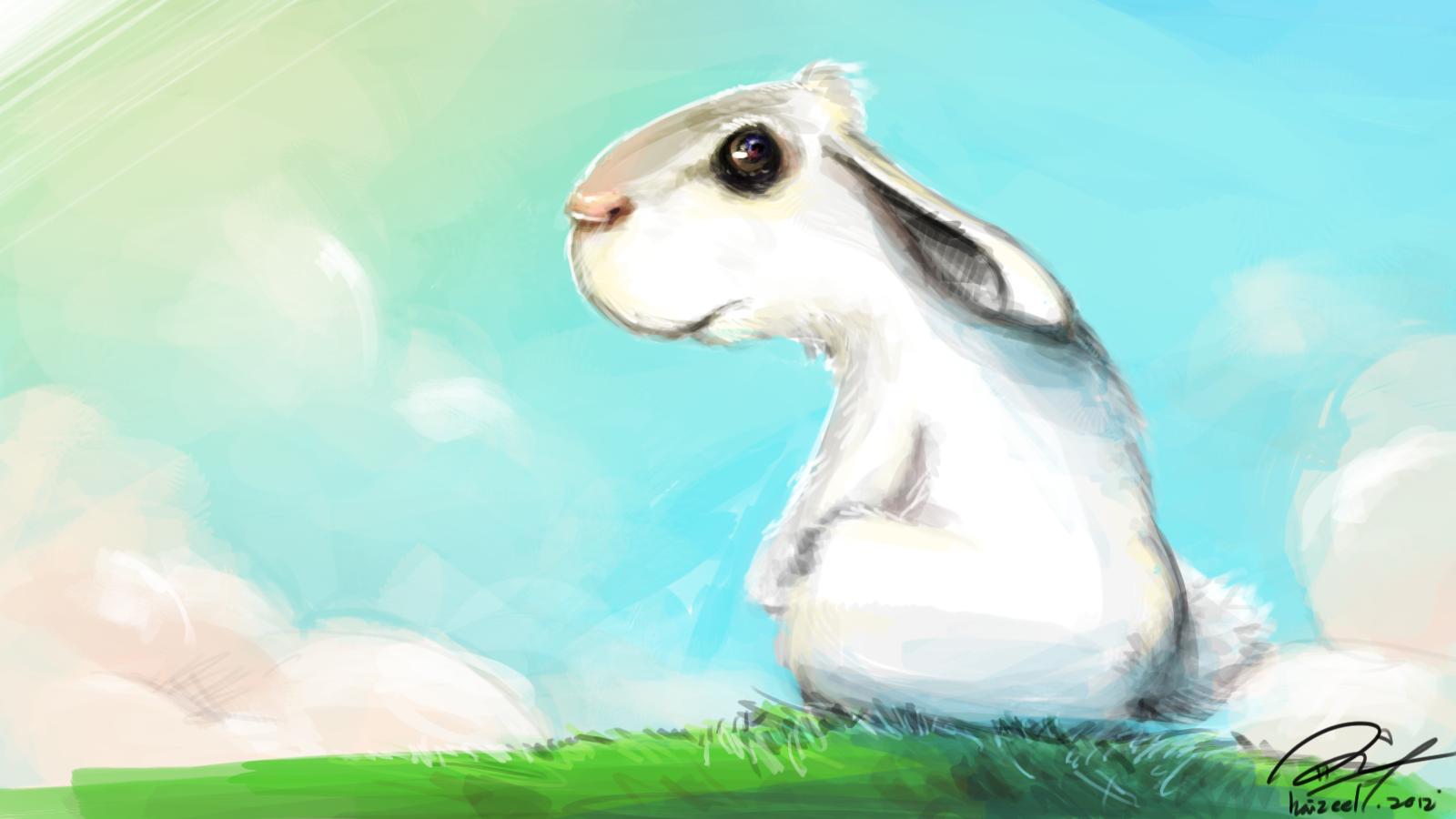 Paranoid Rabbit reaching Seren