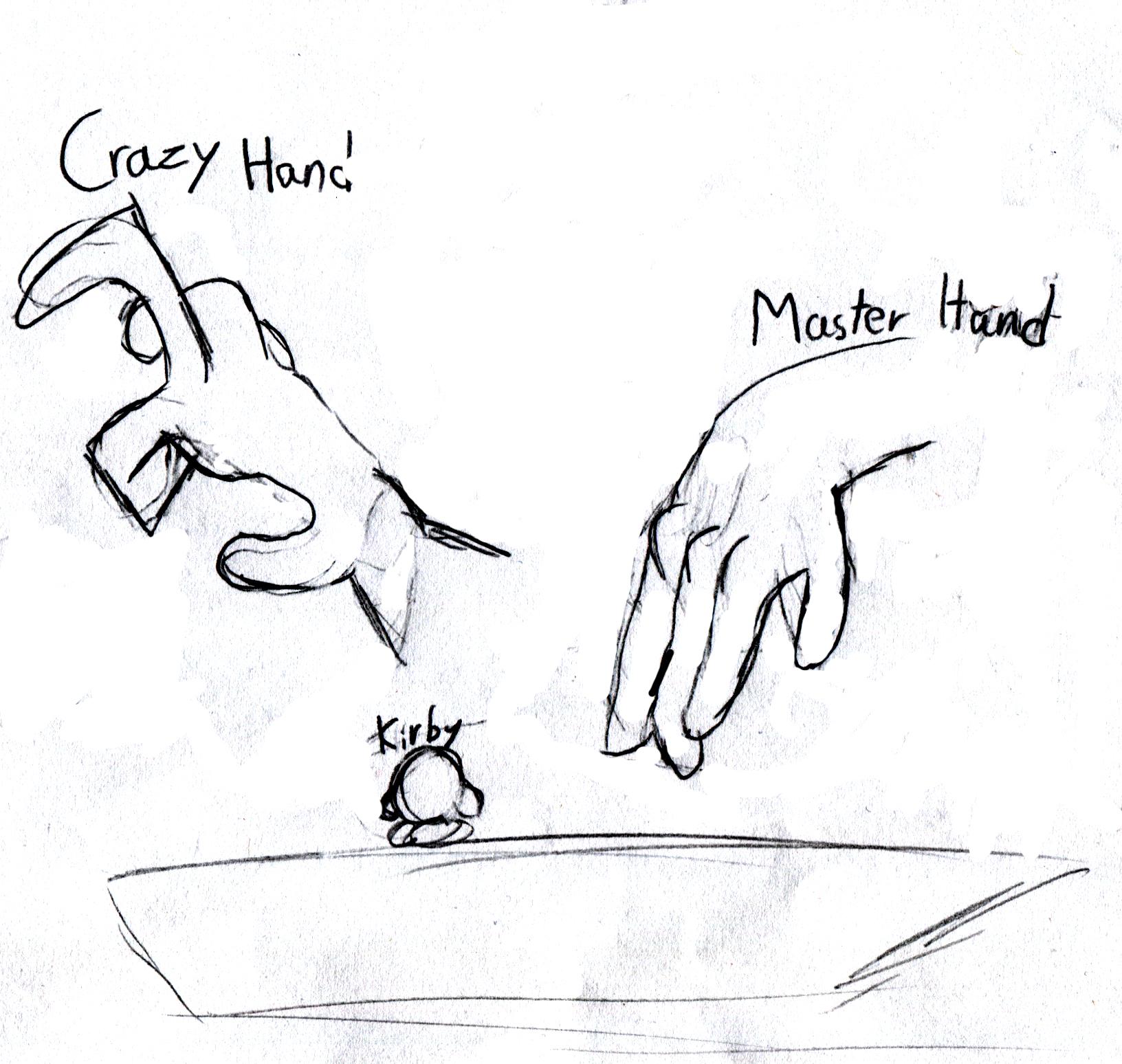Crazy and Master Hand Cutscene