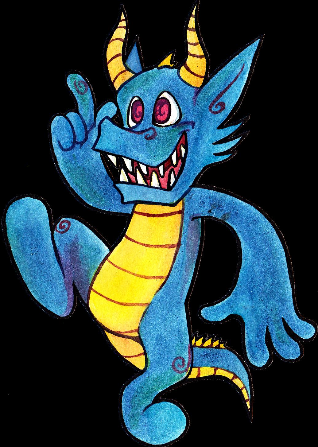 lil dragon cutout