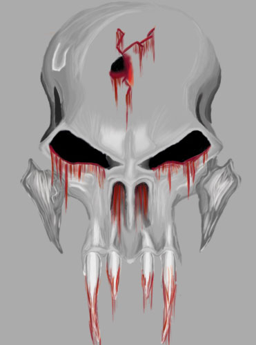 Gothic Skull with Blood