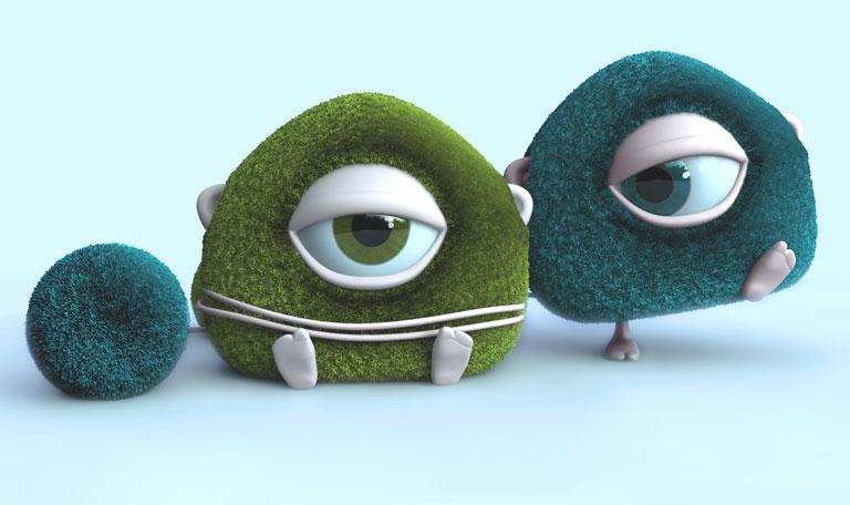 Fluffy aliens