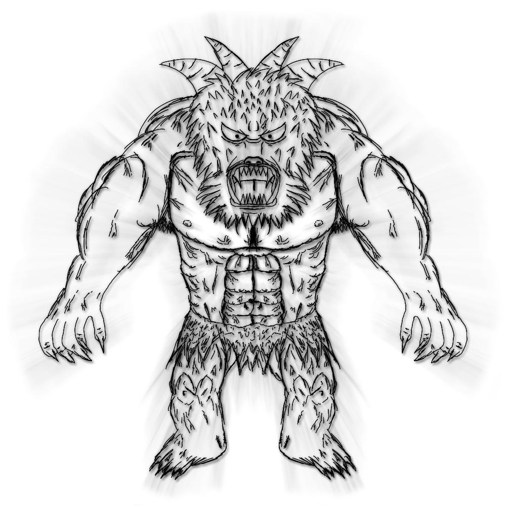 Japanese Ancient Beast Tattoo