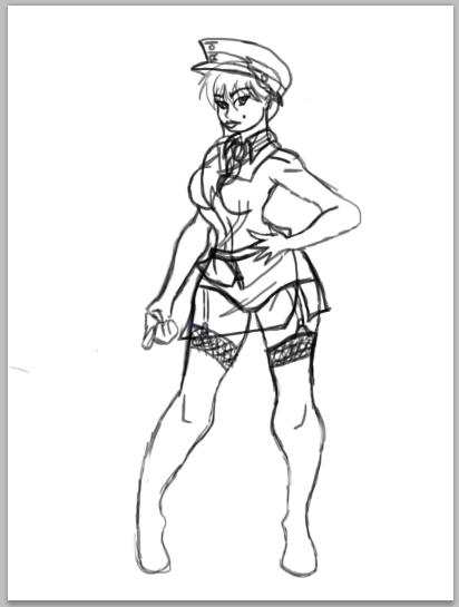 MAUS Tank girl, sans armor