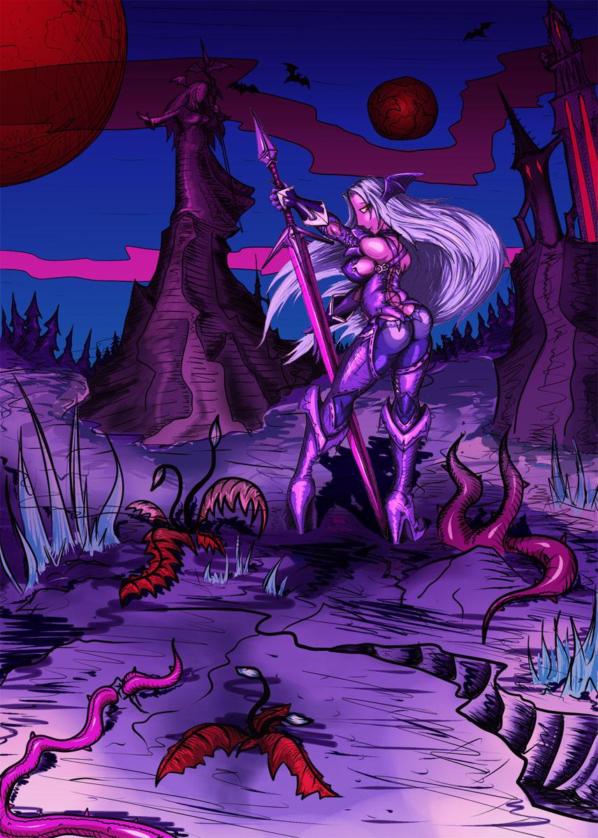 Darksy in her homeworld, Teneb