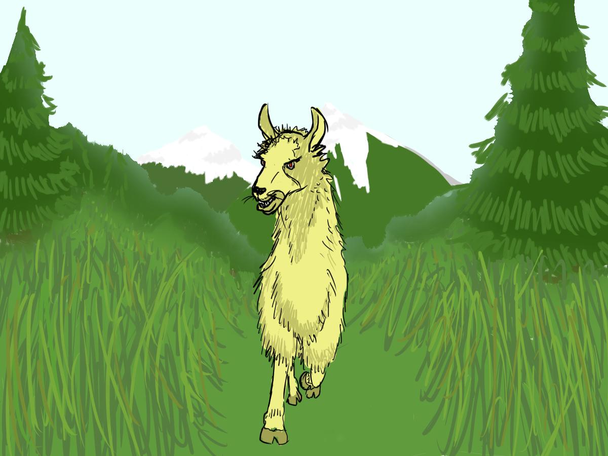 Crazy llama attacks