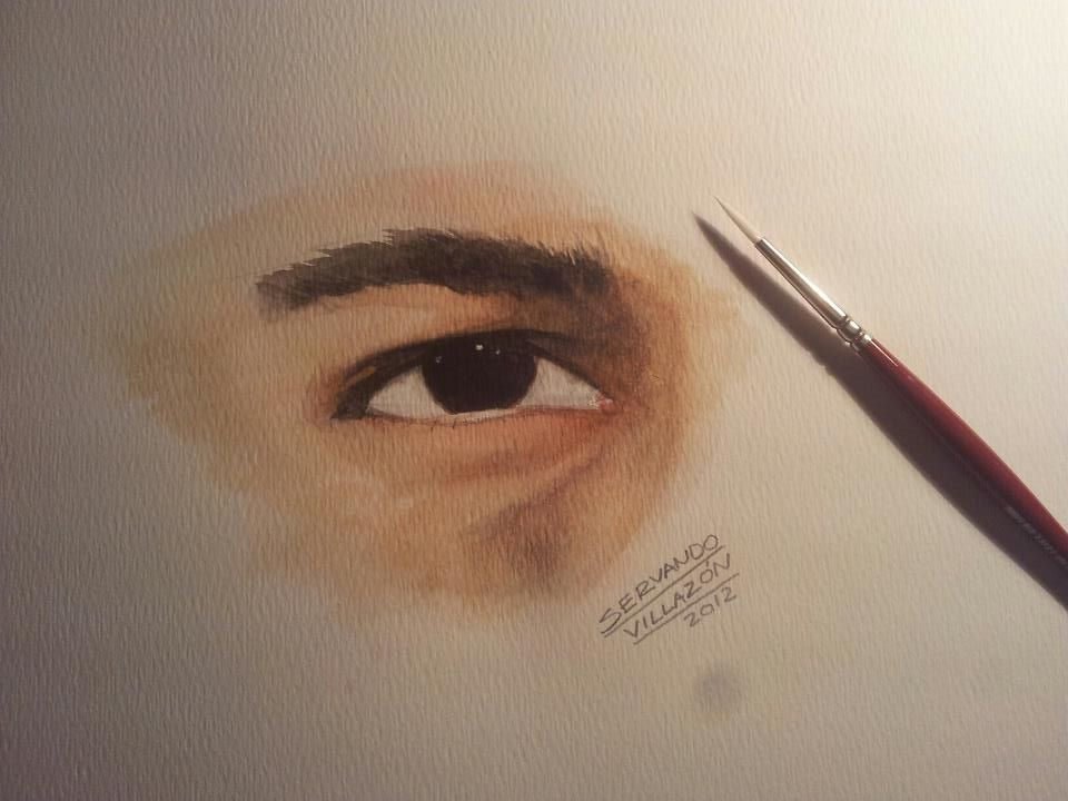 My eye watercolor