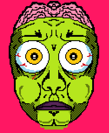 a zombie guy thing
