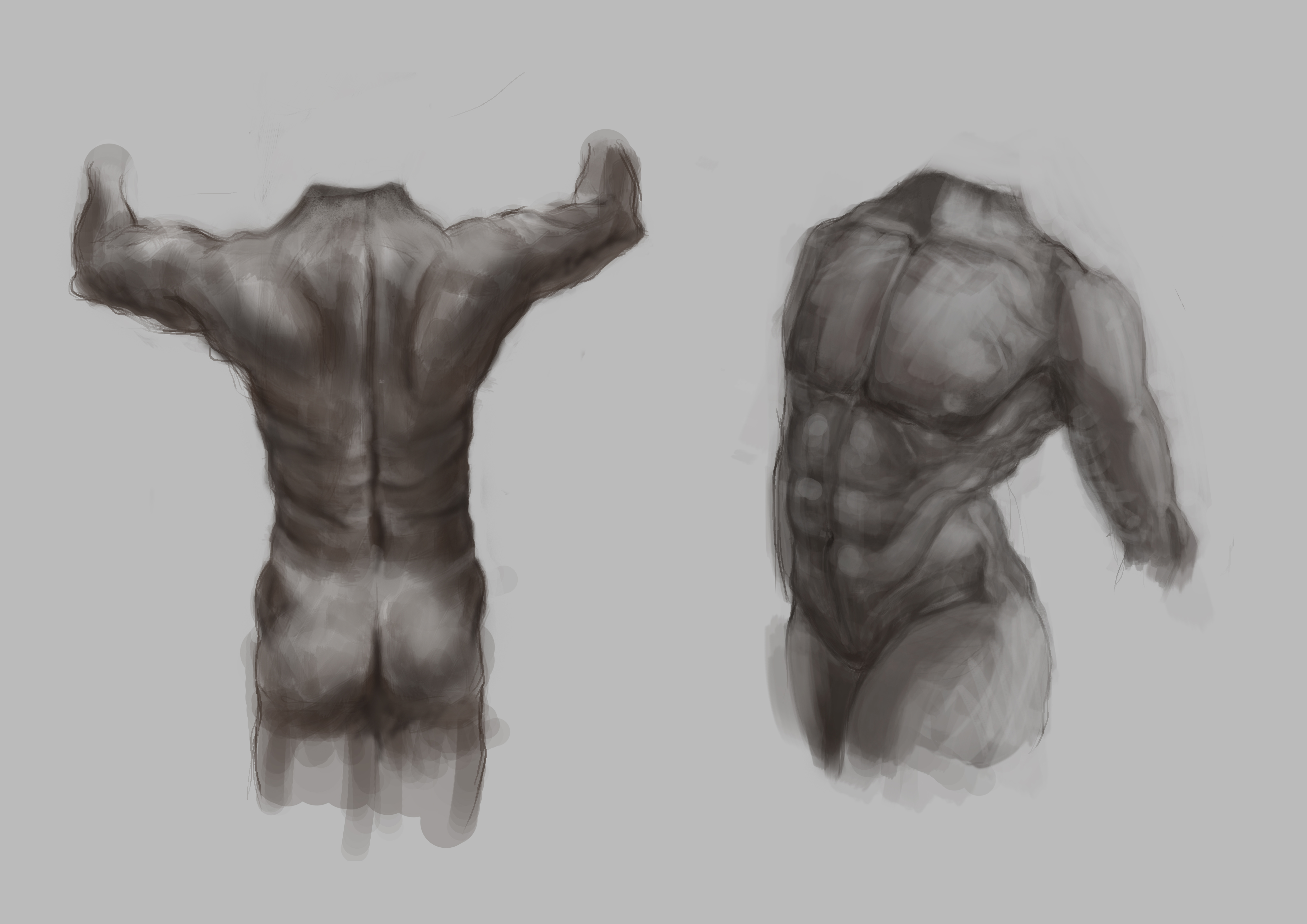 Male torso from memory