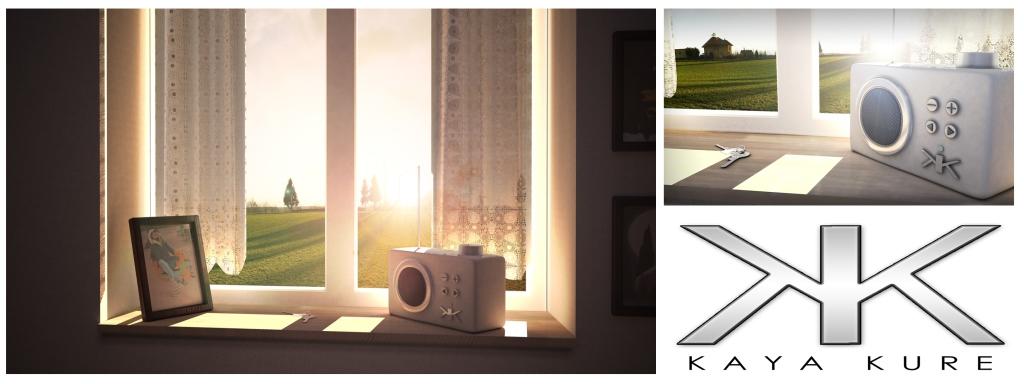 3D Radio collage