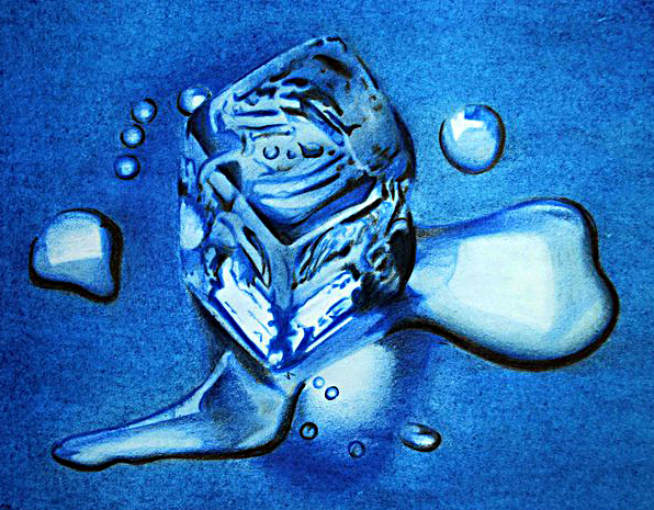 Melting ice- pencil color