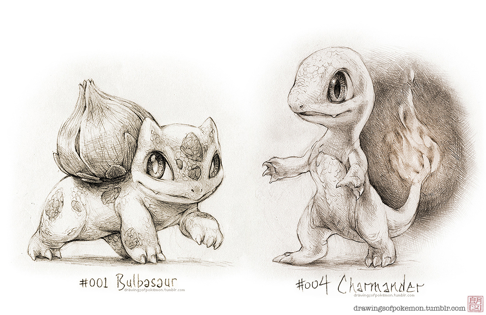 Bulbasaur and Charmander