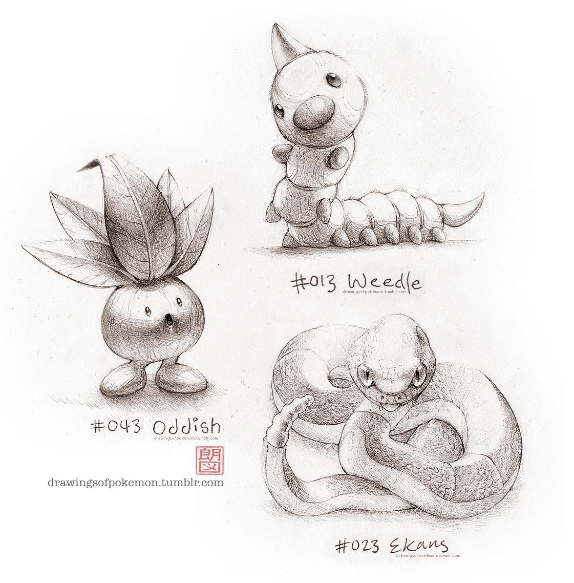 Weedle, Ekans and Oddish