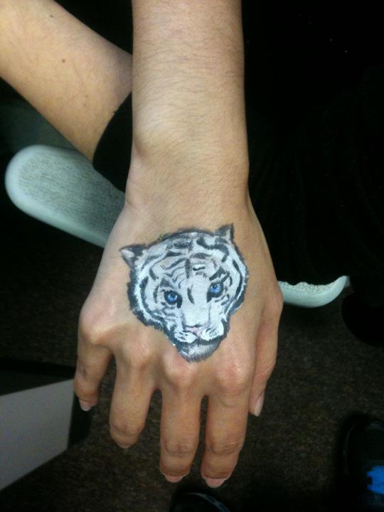 Body Painting - White Tiger