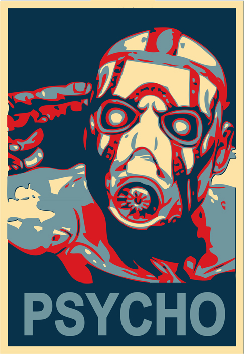 Psycho-Borderlands (Fairey)