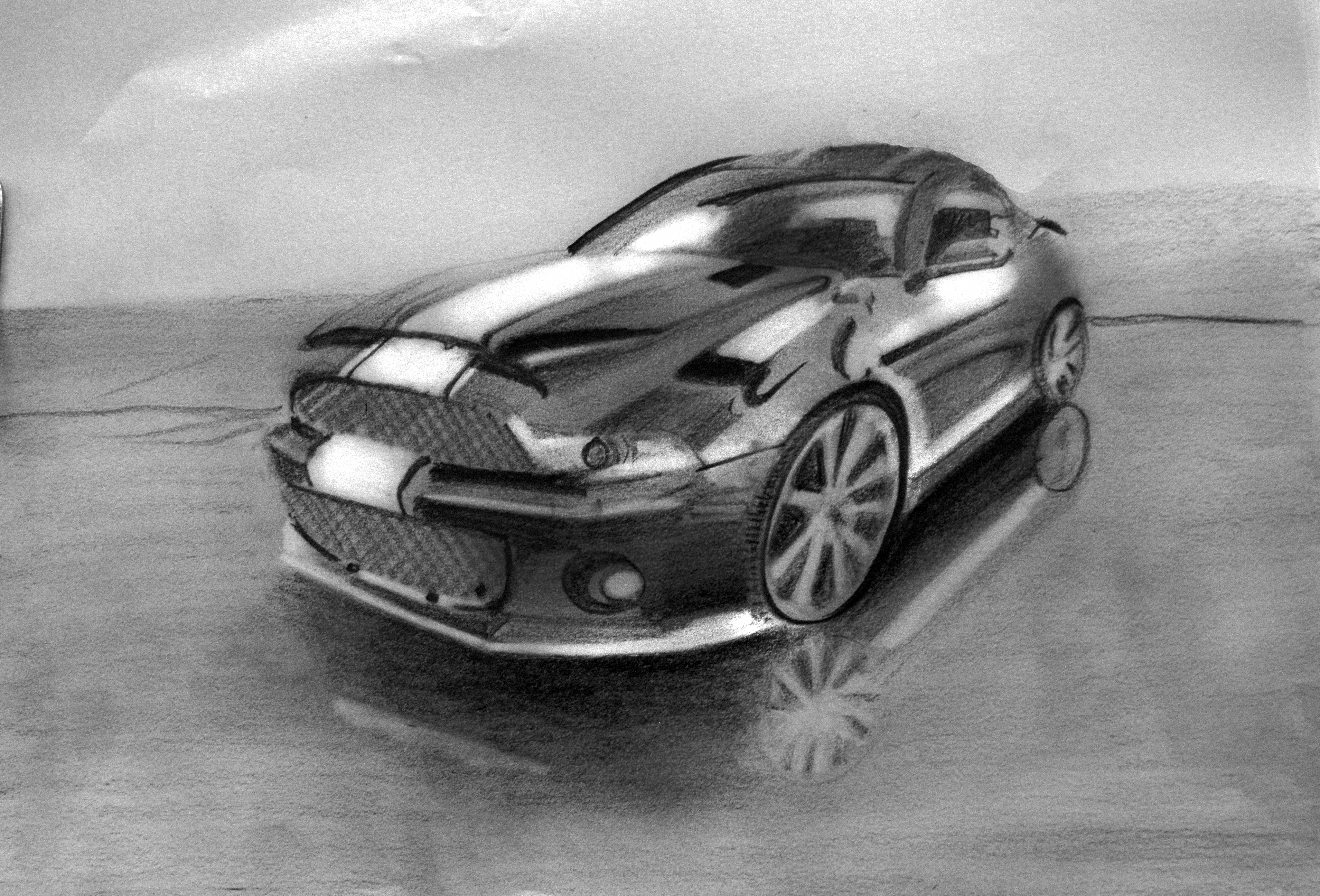 Car- pencil on paper