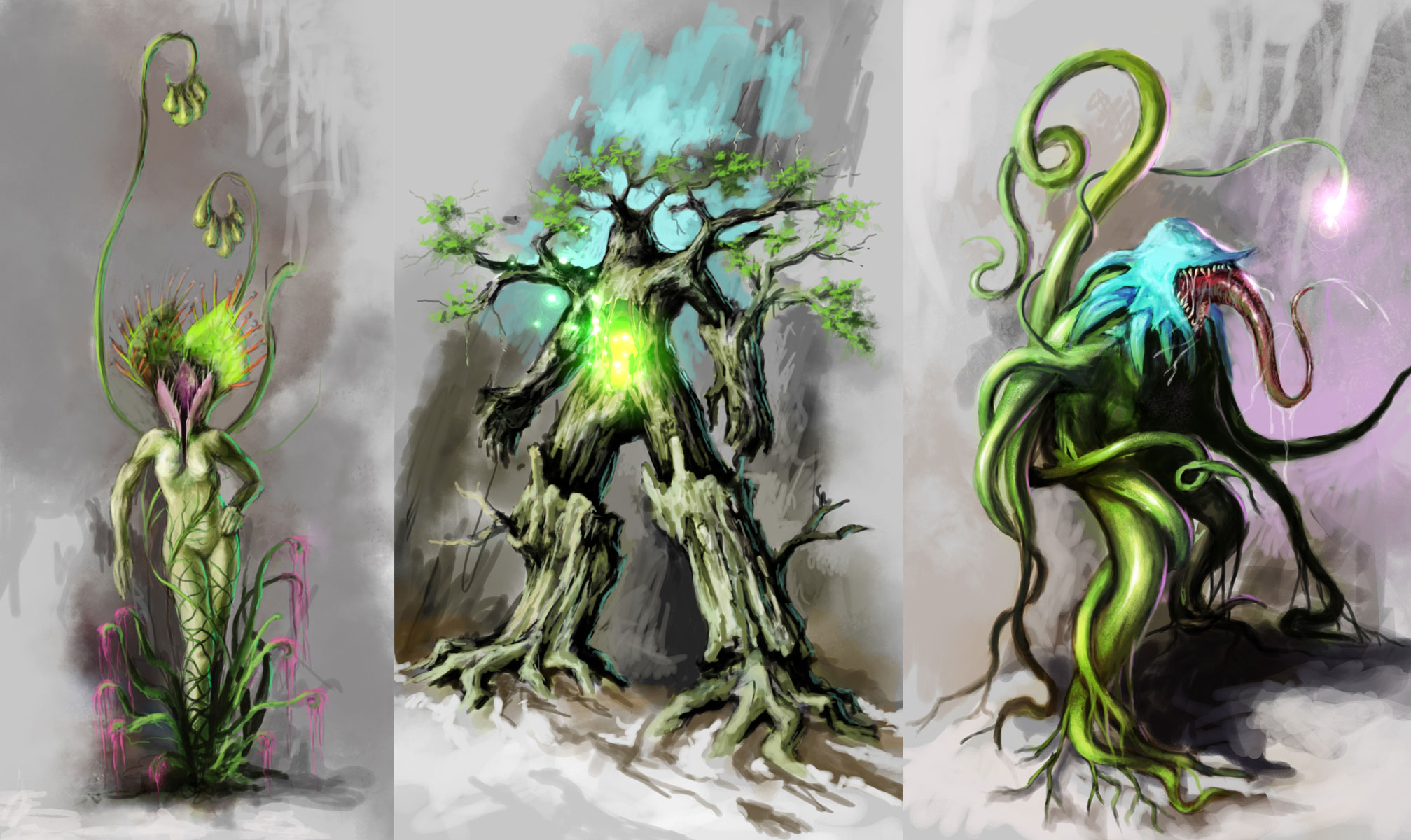Some forest creature concepts