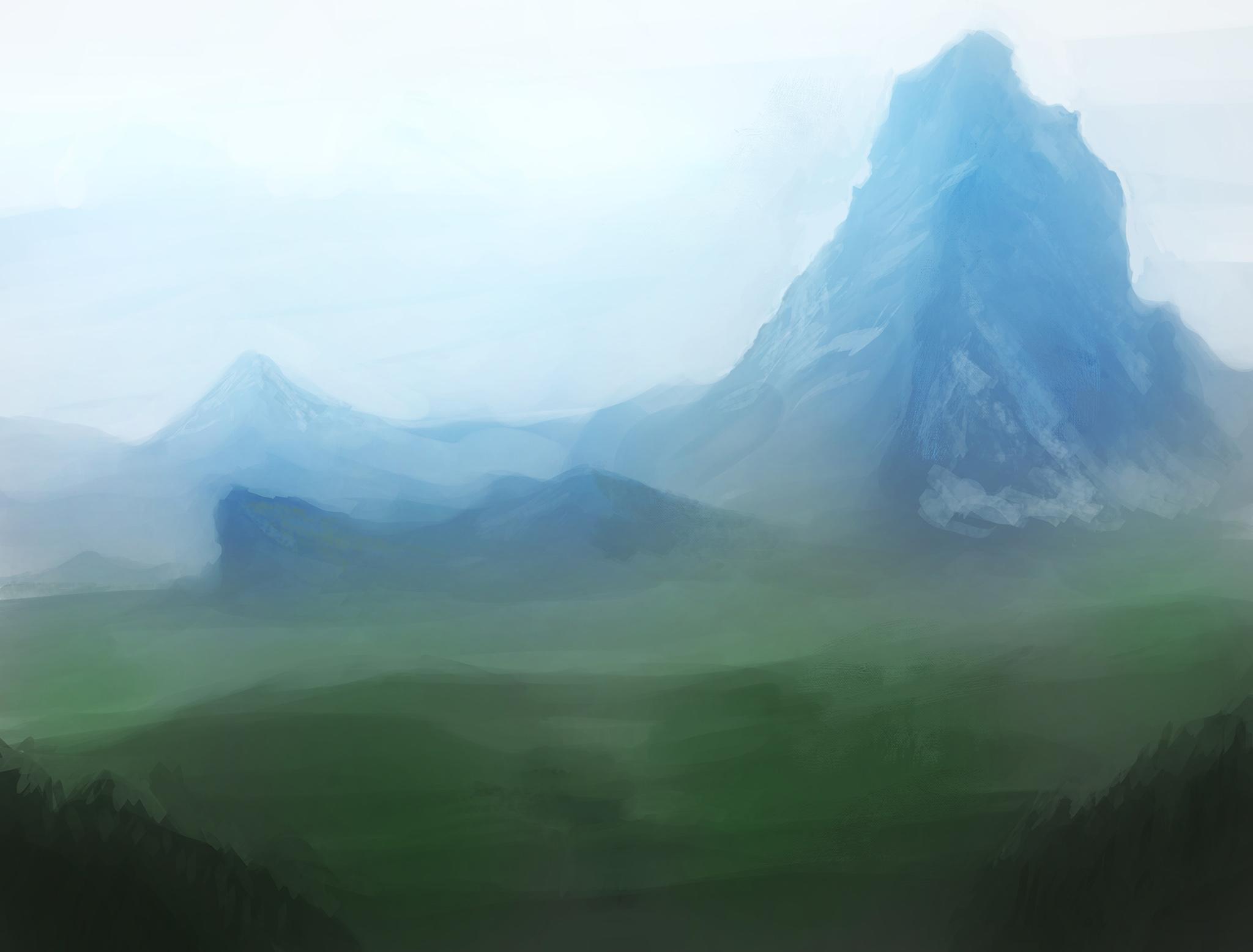 Speedpaint blue mountain