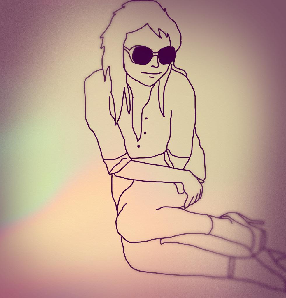 Girl (drawn on iPad)