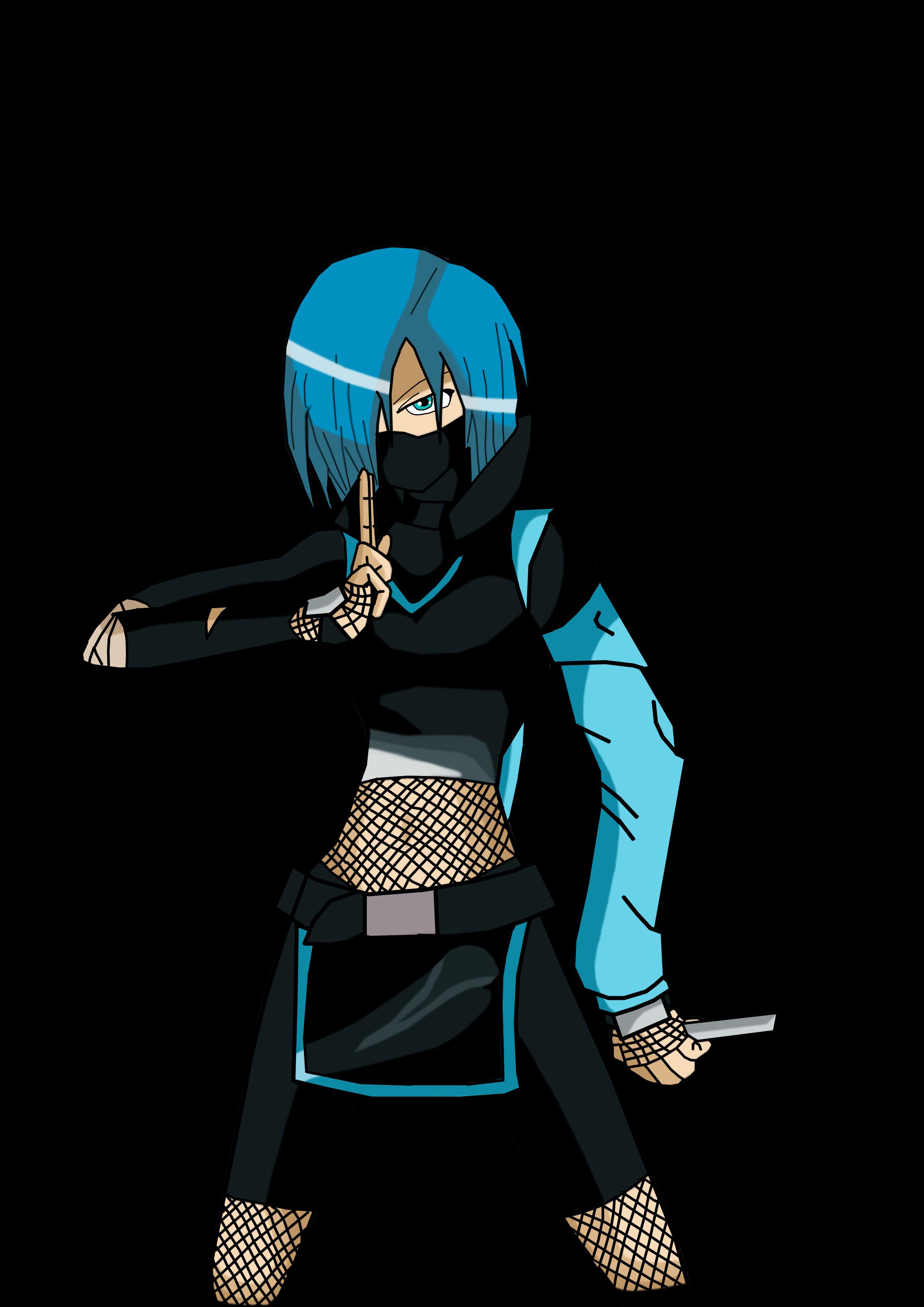 Ninja girl With Fishnets