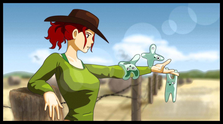 Cowgirl vs Amebaliens