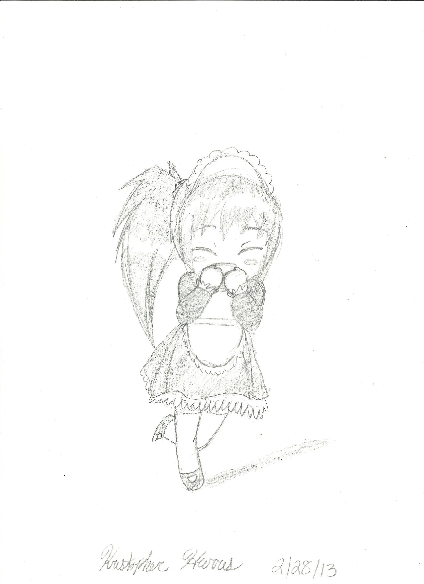 Chibi Maid (Pencil Only)