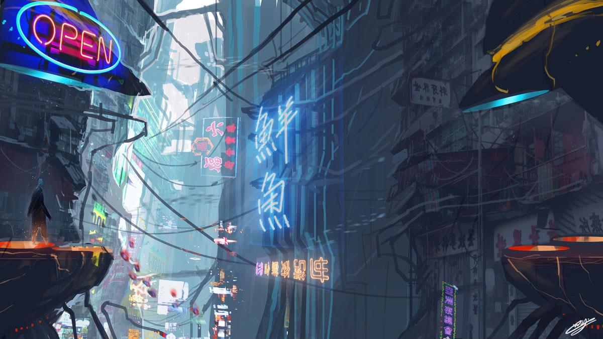 Cyberpunk City/The Chase