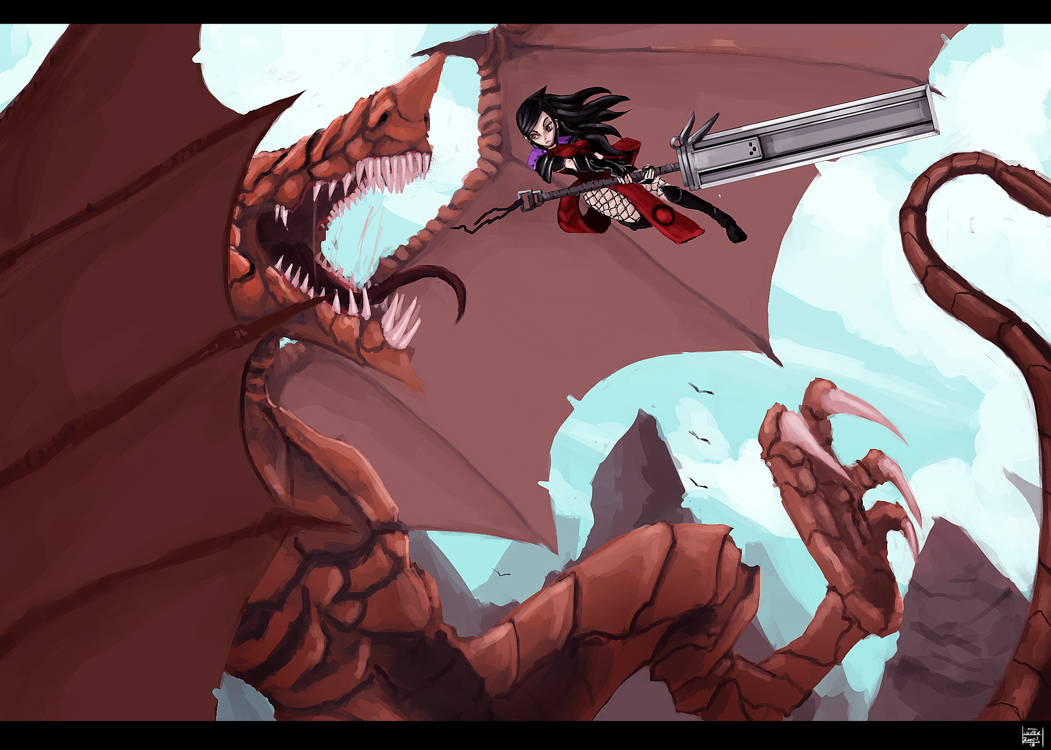 Shark Dragon Fight
