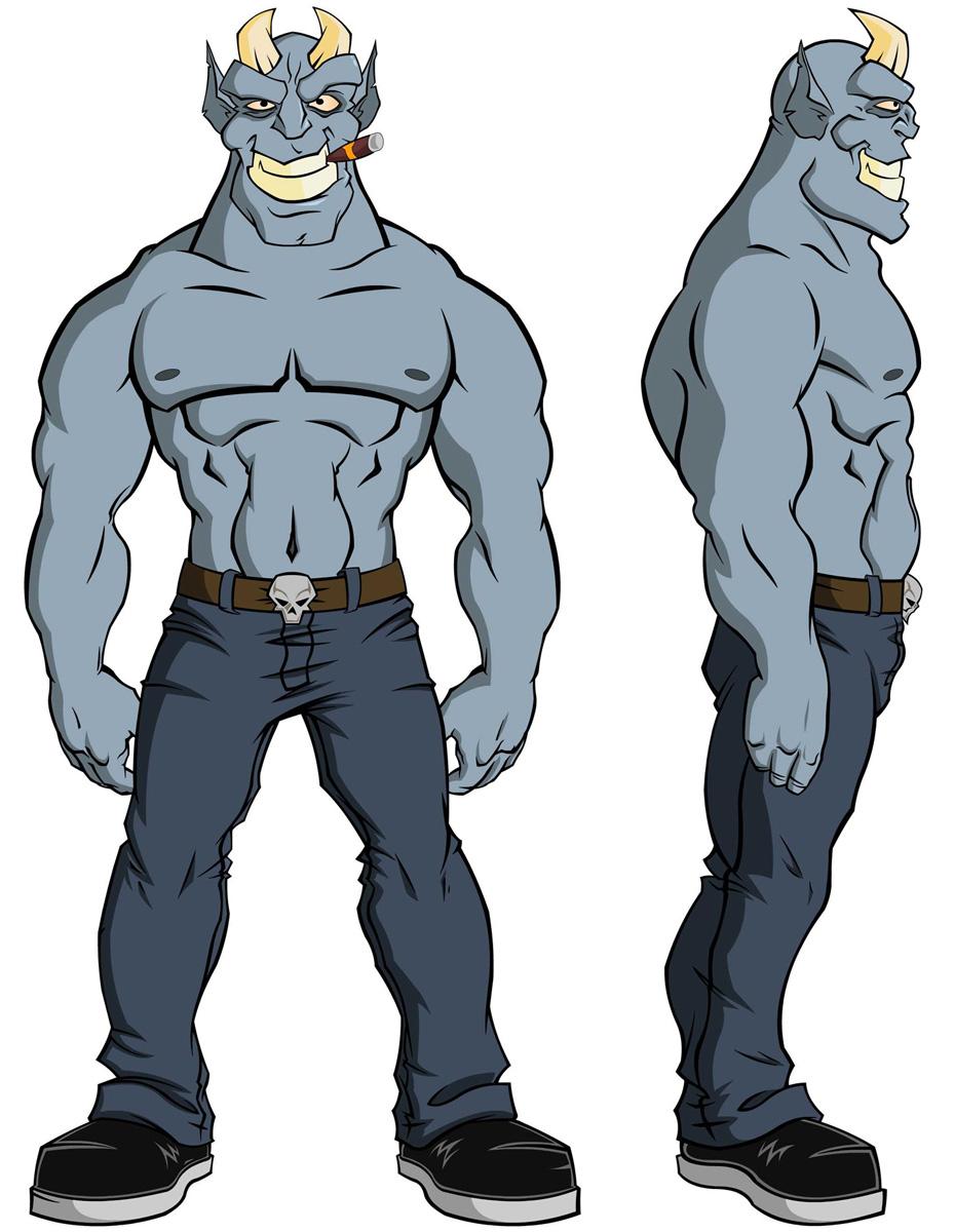 Drunken Demon Character Design