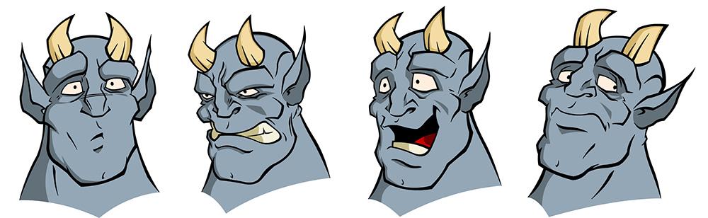 Drunken Demon head designs
