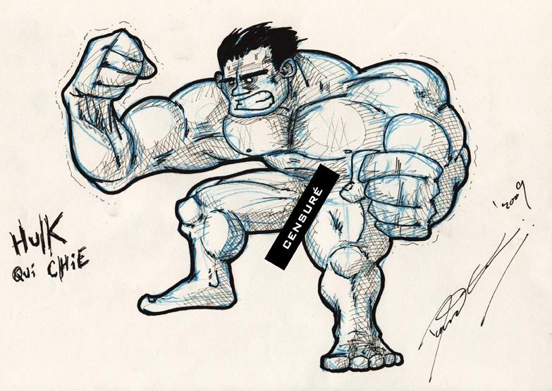 Hulk crappin'