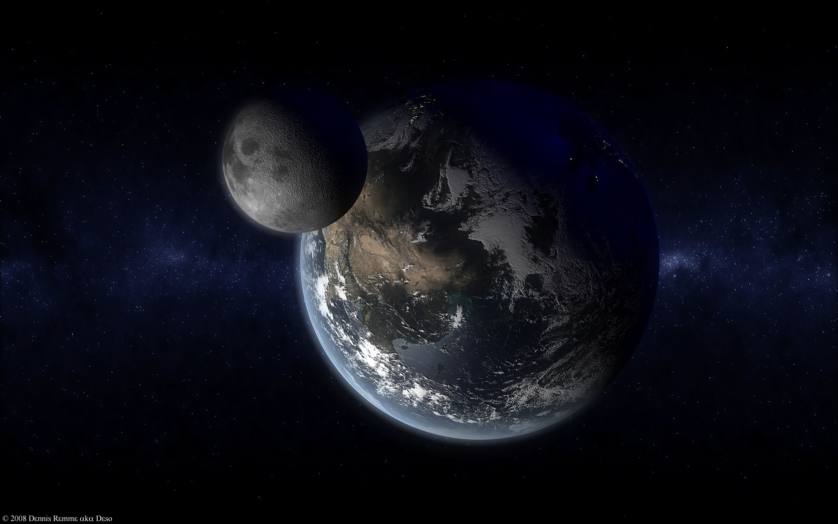 Earth and Moon - Test