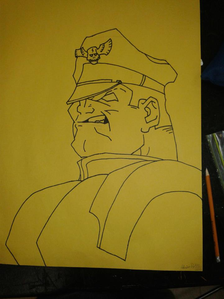 M Bison Outline