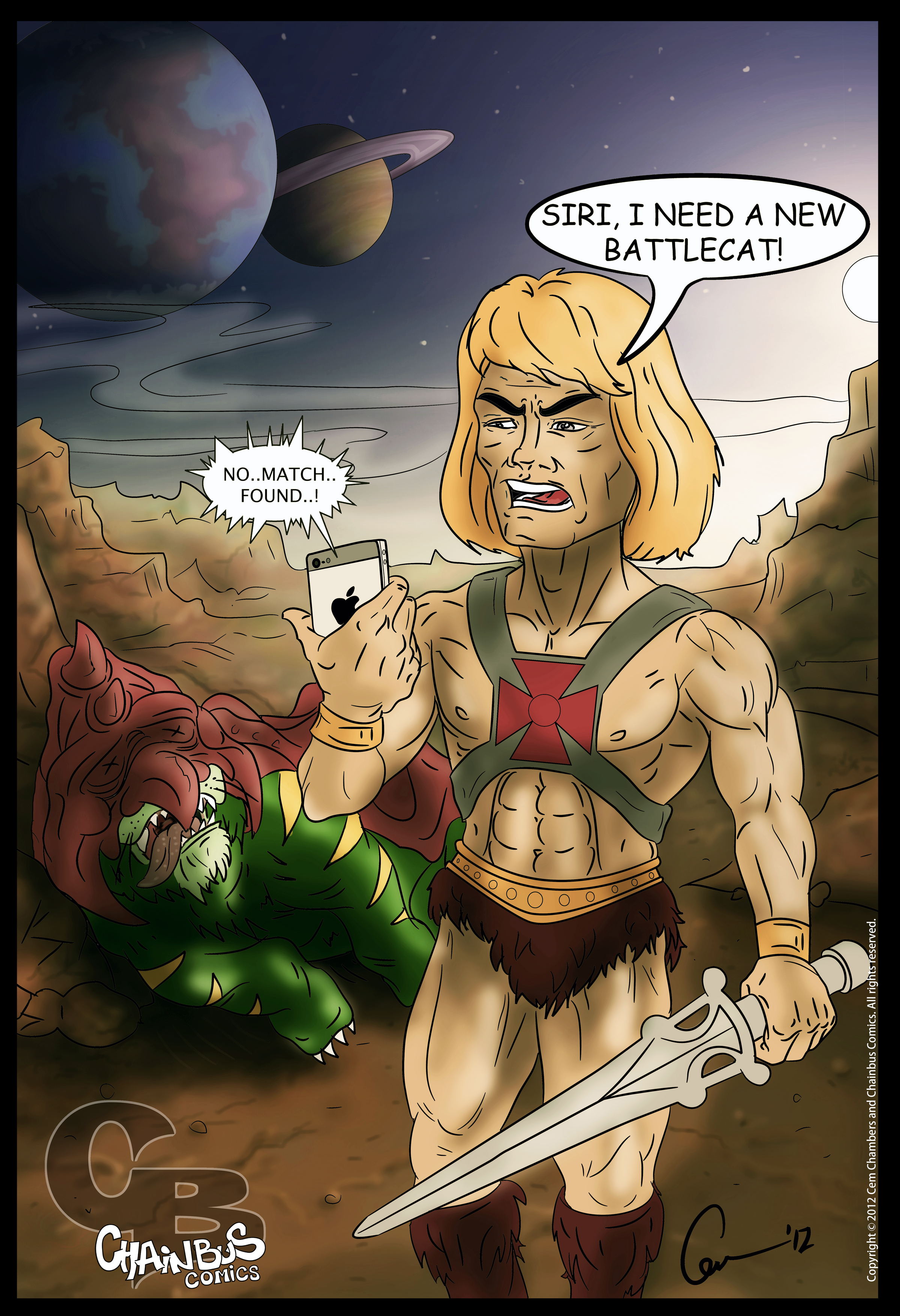 Old He-man with new toy