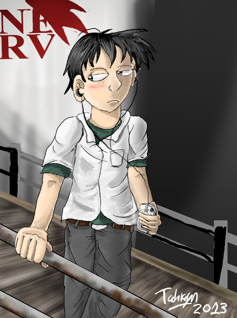 Shinji from Evangelion