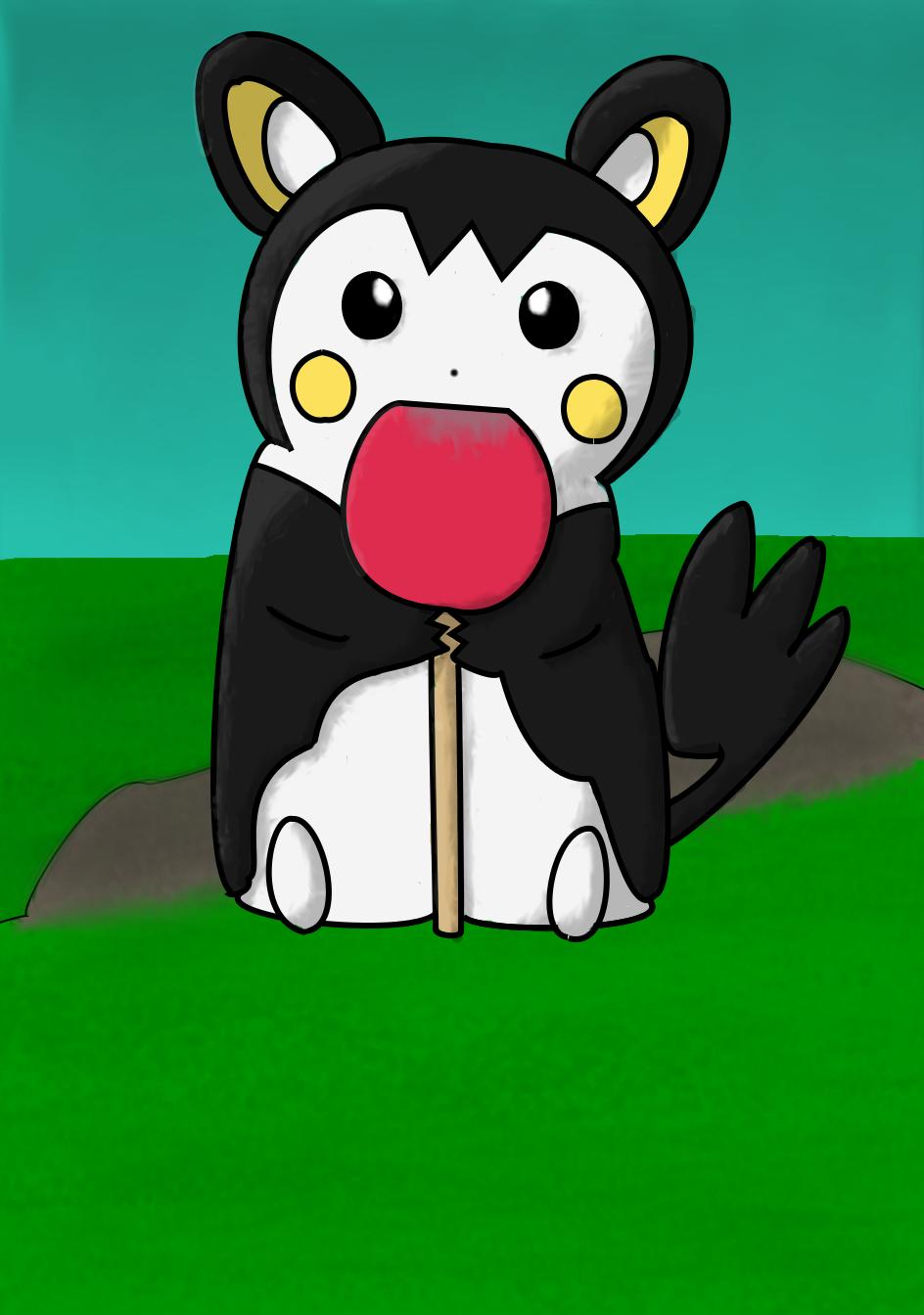 Emolga with Lollipop