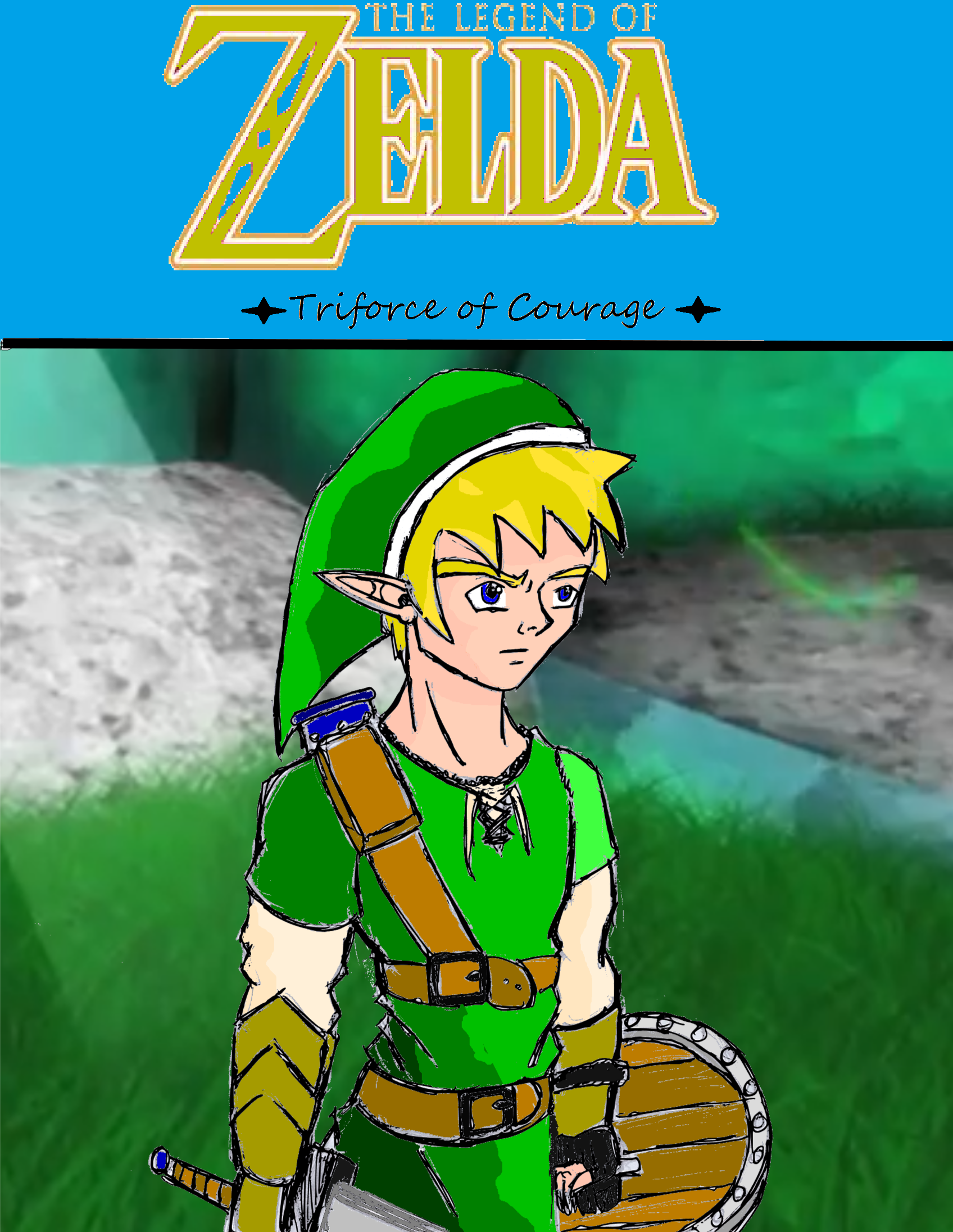 LoZ: Triforce of Courage Title