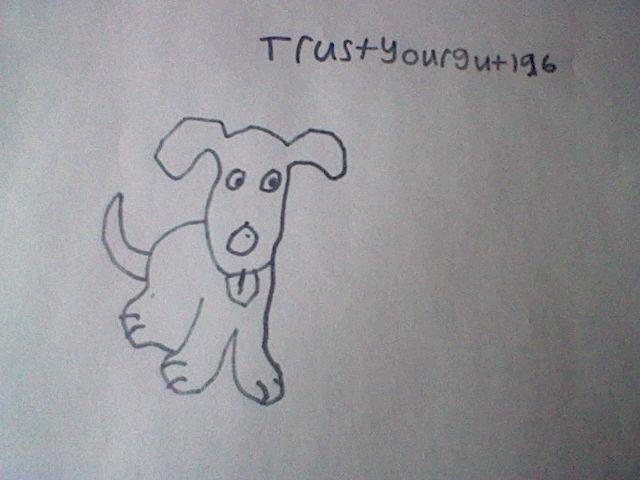 cartoon dog (bad drawing)