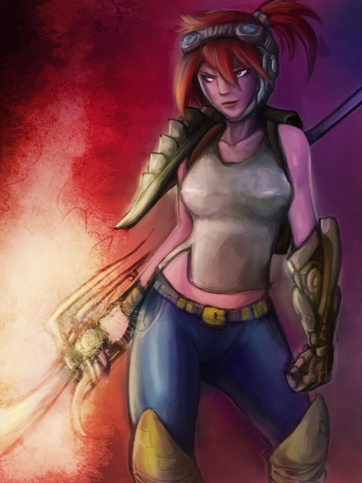 Red Girl Steampunk