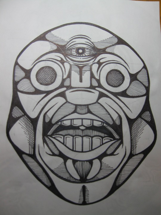 8.5x11 just a face