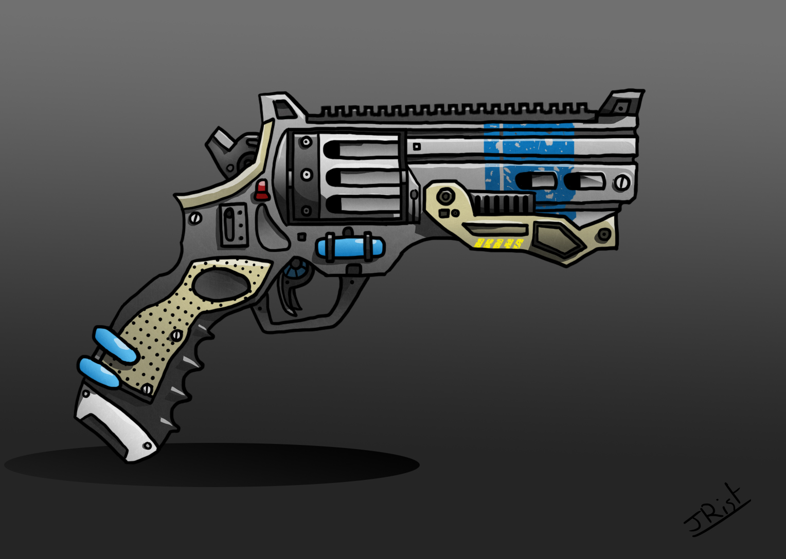 Futuristic Revolver by RistWorks on Newgrounds