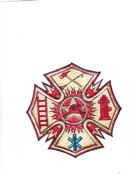 firefighter emt emblem