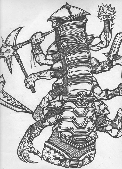 worm warrior 11x14