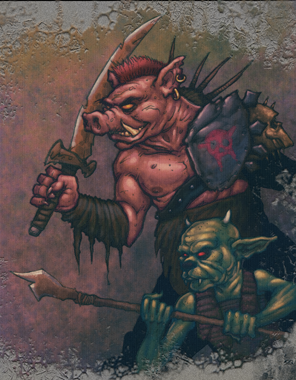 An Orc and a Goblin