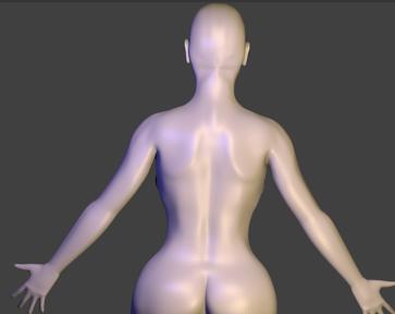 backshot of human character