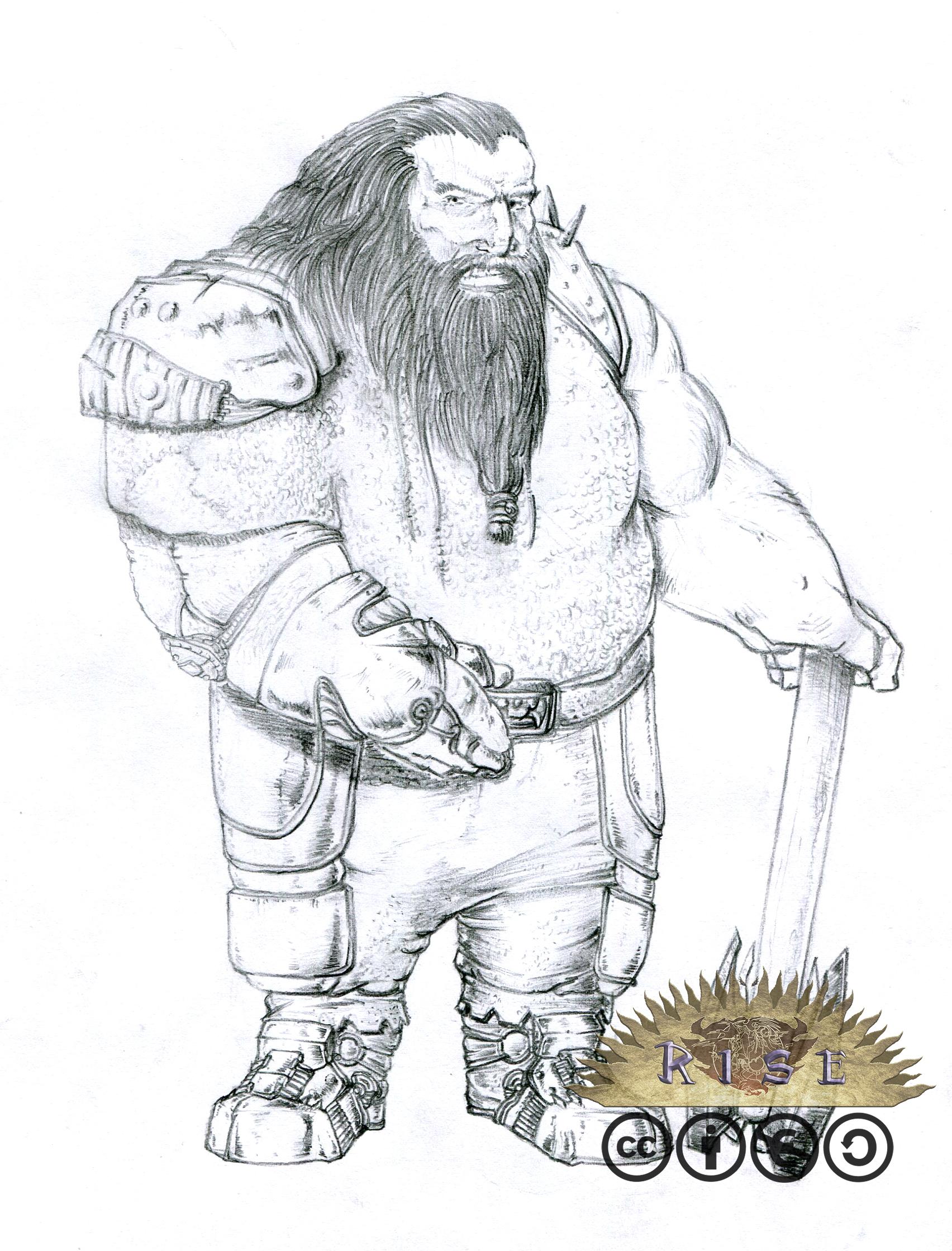Rise races 03- Male dwarf